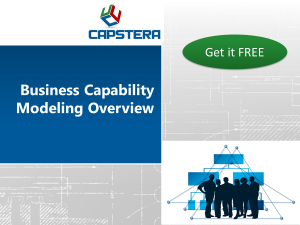 business capability modeling overview presentation free