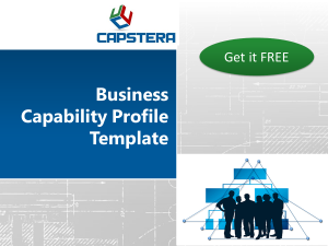 Capstera Business Capability Profile Template FREE