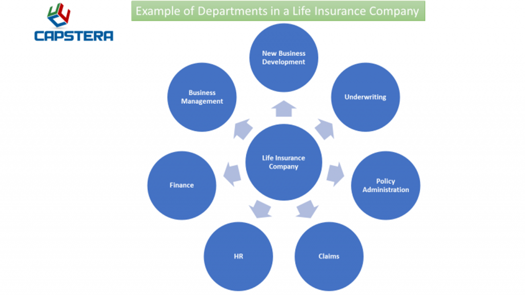Organization Mapping - Departments - Example of an Insurance Company